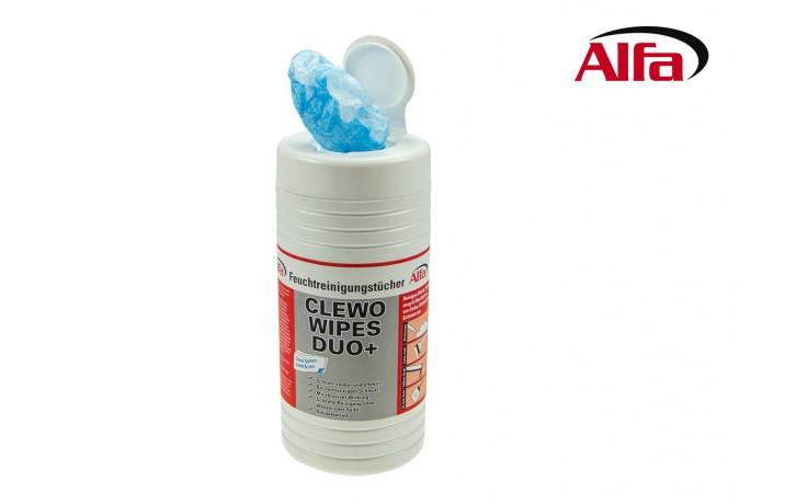 Clewo Wipes Duo+ Feuchtreinigungstücher mit rauer und sanfter Seite